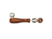 Ceramic Small Baseball Bat with Ball Bead - Bulk Pack of 100pcs