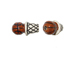 Ceramic Small Basketball and Net Bead - Bulk Pack of 100pcs
