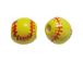 Ceramic Medium Softball Bead - Bulk Pack of 100pcs