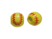 Ceramic Small Softball Bead