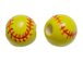 Ceramic Softball Bead - Bulk Pack of 100pcs
