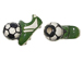 Ceramic Green Cleat And Soccer Ball Bead