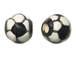 Ceramic Large Soccer Ball Bead - Bulk Pack of 100pcs