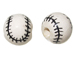 Ceramic Large Baseball Bead - Bulk Pack of 100pcs