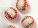 Ceramic Large Baseball (Red Stitch) Bead