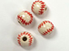 Ceramic Small Baseball (Red Stitch) Bead