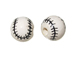 Ceramic Medium Baseball Bead - Bulk Pack of 100pcs