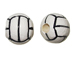Ceramic Large Volleyball Bead