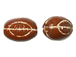 Ceramic Rugby Ball Bead - Bulk Pack of 100pcs