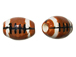 Ceramic Large Football Bead - Bulk Pack of 100pcs