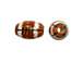 Ceramic Small Football Bead - Bulk Pack of 100pcs