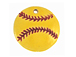 Ceramic Softball Pendant
