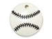 Ceramic Baseball Pendant with Black Stitching