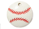Ceramic Baseball Pendant with Red Stitching