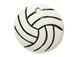 Ceramic Volleyball Pendant