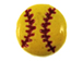 Ceramic Softball Disc Bead