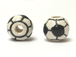 Ceramic Larger (new style) Soccer Ball Bead