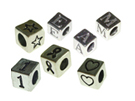 Alphabet Beads Sterling Silver - 4.8mm Block Letters