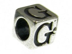 7mm Sterling Silver Letter G