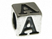 7mm Sterling Silver Letter Bead Alphabet Block A
