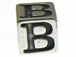 7mm Sterling Silver Letter Bead Alphabet Block B
