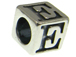 7mm Sterling Silver Letter Bead Alphabet Block E