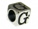7mm Sterling Silver Letter Bead Alphabet Block G