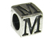 7mm Sterling Silver Letter Bead Alphabet Block M