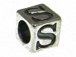7mm Sterling Silver Letter Bead Alphabet Block S
