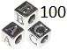 4.8mm Sterling Silver (mini) Letter Blocks (with 3mm hole)  Starter Set of 100. Assorted Letter Blocks. Click code above for mor