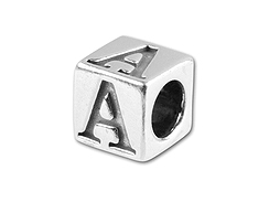 5.5mm Sterling Silver Greek Letter Bead - Alpha