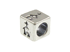 5.5mm Sterling Silver Symbol Bead - Church