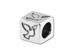 5.5mm Sterling Silver Symbol Bead - Dove