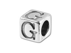 5.5mm <b><i>Pewter</b></i> (Lead Free) Letter G (Bulk Pack of 50)
