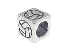 Volley Ball - 5.5mm Sterling Silver Symbol