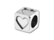 Heart - 5.5mm Sterling Silver Symbol Letter