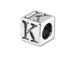 5.5mm Sterling Silver Alphabet Bead - K