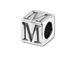 5.5mm Sterling Silver Alphabet Bead - M