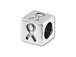 5.5mm Sterling Silver Symbol Bead - Ribbon