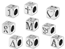 Alphabet Beads Sterling Silver - 5.5mm Block Letters