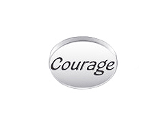 COURAGE Sterling Silver Message Bead