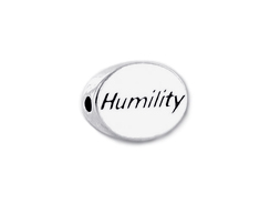 HUMILITY Sterling Silver Oval Message Bead