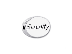 SERENITY Sterling Silver Oval Message Bead