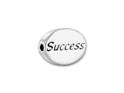 SUCCESS Sterling Silver Oval Message Bead