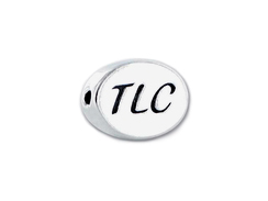 "TLC Sterling Silver Oval Message Bead <b><FONT COLOR=""FF0000"">CLEARANCE SALE</FONT>"