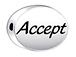 ACCEPT Sterling Silver Oval Message Bead