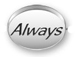 ALWAYS Sterling Silver Oval Message Bead