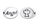 ANGEL Sterling Silver Oval Message Bead