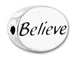 BELIEVE Sterling Silver Oval Message Bead