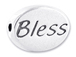 BLESS Sterling Silver Oval Message Bead